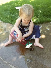 i'm going to make it (after all): 100 (Attempted) Ways to Entertain a Young Toddler, Day 95: Toddler Spray Paint