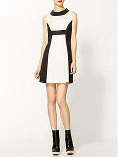 Rachel Zoe Madison II Dress | Piperlime TENCEL(R) / cotton dress...  black/white trend