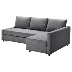 IKEA - FRIHETEN, Corner sofa-bed with storage, Skiftebo dark grey, This sofa converts quickly and easily into a spacious bed when you remove the back cushions and pull out the underframe. Sofa, chaise longue and double bed in one. Sofa Bed With Chaise, Sofa Couch, Chair Bed, Sofa Beds, Lounge Sofa, Ottoman Bed, Ikea Friheten, Friheten Sofa Bed, Corner Sofa Bed With Storage