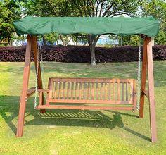 Epic  Seater Wooden Garden Swing Chair Seat Hammock Green