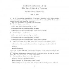 Worksheet for Section 1–2 The Basic Principle of Counting V60233, Theory of Probability June 29, 2009  At Pat's Cheese Steaks in Philadelphia you ca. http://slidehot.com/resources/worksheet-the-basic-principle-of-counting.47508/