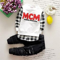 87ec34aa81e2e6 Fashion Baby Boy Clothing + Trousers Sets  ToddlersSummerFashion Cute  Outfits For Kids