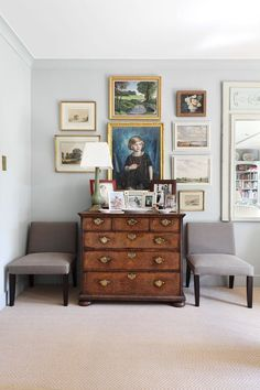 Image result for charming interior flat gallery wall antique