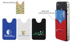 The Smart Phone Wallet - 3 Day Service. Attach this to the back of your smart phone, tablet or anywhere to make a mini wallet. Holds 2-3 credit and/or ID cards. Made from soft silicon.