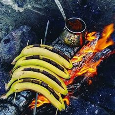 Delicious grilled banana boats anyone? : @kesfihuzur #camping #bushcraft #outdoor #outdoorliving #trekking #adventure #nature #wilderness #camp #outdoorlife #outdoorspace #outdoorsurvival #survival #outdoorsmen #campinglife #forest #explore #discover #mountains #instagood #landscape #bushcrafter #bushcrafting #adventure #scenery #woodsman