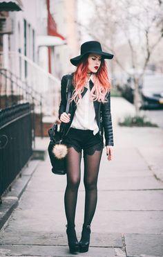 le happy blogger jacket blouse shorts shoes hat