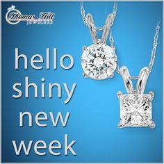 Mondays are for fresh starts! #BeShiny #DiamondStuds #Diamonds #Fresh
