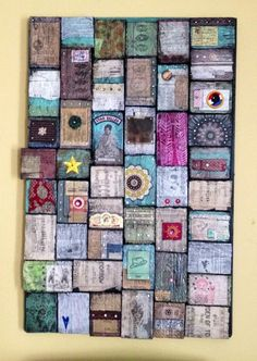 mixed media wood collage...