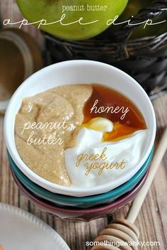 Peanut Butter Apple Dip | It's so delicious, you'd never guess how good it is for you!! www.somethingswanky.com