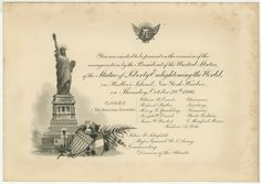 Printed on Crane & Company paper, this Statue of Liberty highlighted invitation would be a great way to publicize a patriotic event. Come see this product and others like it today at The League Shop. Manhattan, Grover Cleveland, The Proclamation, Men Of Letters, Liberty Island, New York Harbor, Today In History, American Freedom, Rhyme And Reason