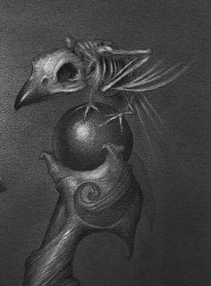 "☆ Maleficent and Diablo ""Uninvited"" -Detail-  Artist Travis Lewis ☆"