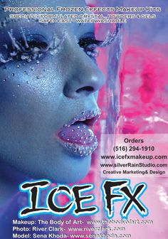 Professional frozen effects makeup for that icy look . Ice Fx™ Makeup artist & body painting