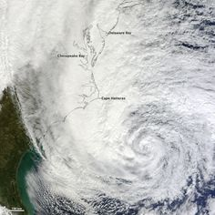 Turbulent, swirling winds traveled from the Caribbean Sea to the U.S. East Coast in October 2012 and produced Hurricane Sandy.