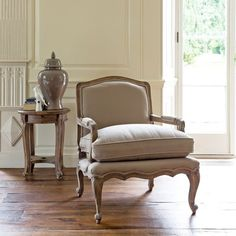 Rochelle French armchair, putty