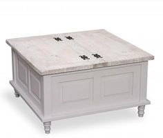 Bayonne Ornate Square Trunk Coffee Table Grey or White Coffee Table Design, Coffee Table Grey, Coffee Table With Drawers, White Coffee, Taupe Colour, Garden Items, Storage Trunk, Table Storage, Or Antique