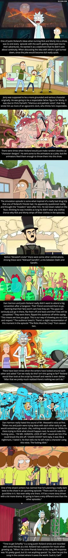 Some Rick and Morty facts, yo