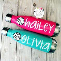 Volleyball Vacuum Sealed Water Bottle Personalized Volleyball