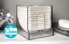 Amazon.com: QubeTM Cotton Swab Dispenser by WalterDrake