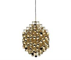 Verpan pendel lampe - Spiral, guld (SP01)