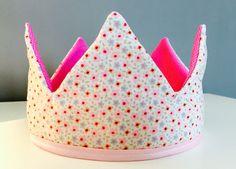 Couronne en tissu pour petite Princesse