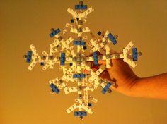 Lego tree topper snow flake