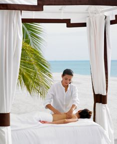 Spa treatments in luxury spa or on the beach.