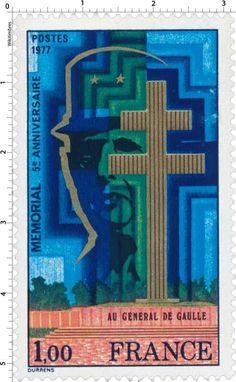 France Stamp 1977 - Mémorial De Gaulle
