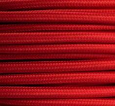 Textilkabel rot Stoffkabel rotes Lampenkabel, 3-adrig rund 3x0,75mm² auch bezeichnet als: dreiadrig Leuchtenkabel, Kabel Meterware (Strom - Elektro - Lampen Zuleitung - Leuchten Anschlusskabel - Anschlussleitung ohne Schalter und Stecker), Kabel für Lampenfassung Leuchtenfassung, Gewebekabel, Kabel Stoff, PVC Stromleitung stoffummantelt, farbige Kabel, bunte Kabel, Textil Stromleitung, Kunststoff Stromkabel textilummantelt, Baumwollkabel, Leuchtenkabel, Textil Elektrokabel, Lampenleitung…
