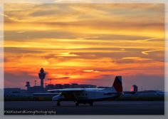 Kustwacht / coastguard at Schiphol sunset colors