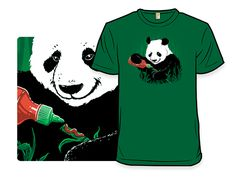 "#Sriracha / Panda Bear T-shirt: ""It's Good On Everything"" ($15 via woot.com)"
