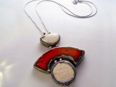 Gioiello Raku argento 925 argento italiano fatto a di LaTerraCanta ...other Fiorella Raku creation..  https://www.youtube.com/watch?v=XYJTZypVogc
