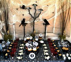 Spooky Halloween dessert table