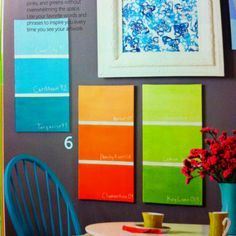 8 fun things to do with recycled paint chips paint chips walls paint chip art do it yourself magazine spring 2012 solutioingenieria Gallery