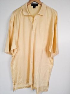 Byron Nelson Eleven Straight Men Yellow S/S Golf Shirt Sz XL Extra Large #ByronNelson #PoloRugby