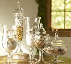 apothecary jars - any time of the year.