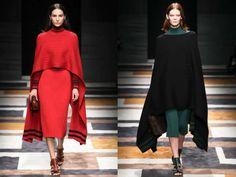 Модные накидки, кейпы, пончо осень-зима 2015-2016