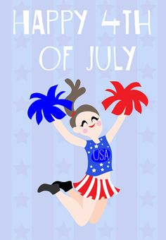 4th of July #Card - Free Printable