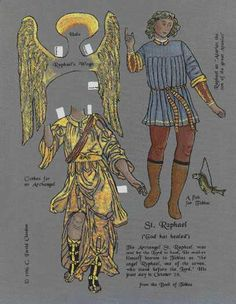 Image detail for -st. raphael, a claudon paper doll
