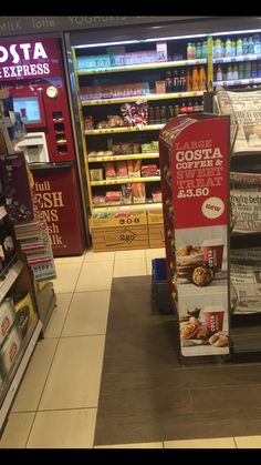 Costa Coffee, Store Design, Grocery Store, Jukebox, Latte, Convenience Store, Treats, Convinience Store, Sweet Like Candy