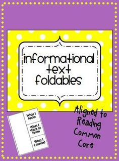 Use in a reading journal or lapbook!  $
