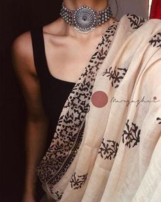 Oxidised 925 silver neckpiece that can go well with your traditional as well as indo- western outfits. Jewellery Care: Pure silver jewellery has a tendency to oxidise especially when its not worn Ethnic Outfits, Indian Outfits, Western Outfits, Ethnic Fashion, Indian Fashion, Saree Jewellery, Silver Jewellery, Sari Dress, Dress Lace