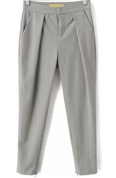 Pantalones crop bolsillos-gris 21.60