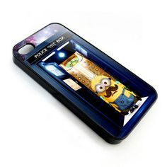 despicable me with public call box design for apple iphone 4 4s case