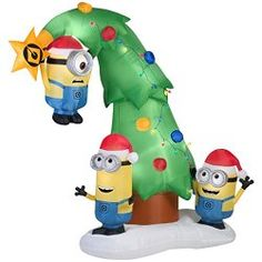 Funny #Minions Christmas Tree #Inflatable | minion inflatables ...