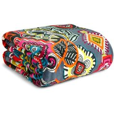 Vera Bradley Throw Blanket ($49) ❤ liked on Polyvore featuring home, bed & bath, bedding, blankets, painted medallions, vera bradley blanket, multi colored throw blanket, oversized throw, multicolor throw blanket and colorful throws