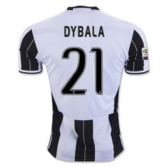 dybala white blacks home adult soccer jersey 2016 m length in. chest in. non branded juventus f. hom
