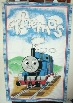 Baby Quilts  Thomas the Tank Engine by SewflairUK on Etsy, £30.00
