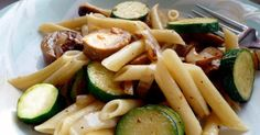Here's a flavorful mixture of chicken apple sausage, vegetables and pasta for a quick family dinner meal. Try it with red pepper flakes and/or freshly grat