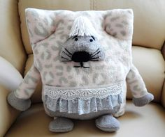 Baby Pillow ToyDecorative pillow-toy Мouse gray by Givemiracles