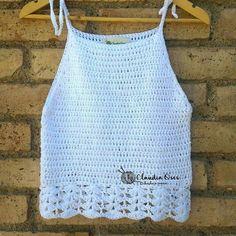 Crochet Summer Tops, Crochet Crop Top, Crochet Blouse, Crochet Bikini, Hippie Crochet, Love Crochet, Crochet Lace, Crochet Buttons, Crochet Stitches
